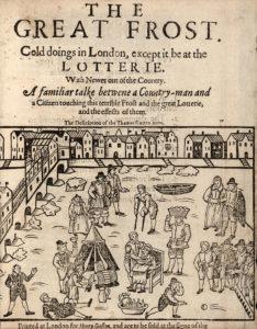 1608 Frost Fair Londres