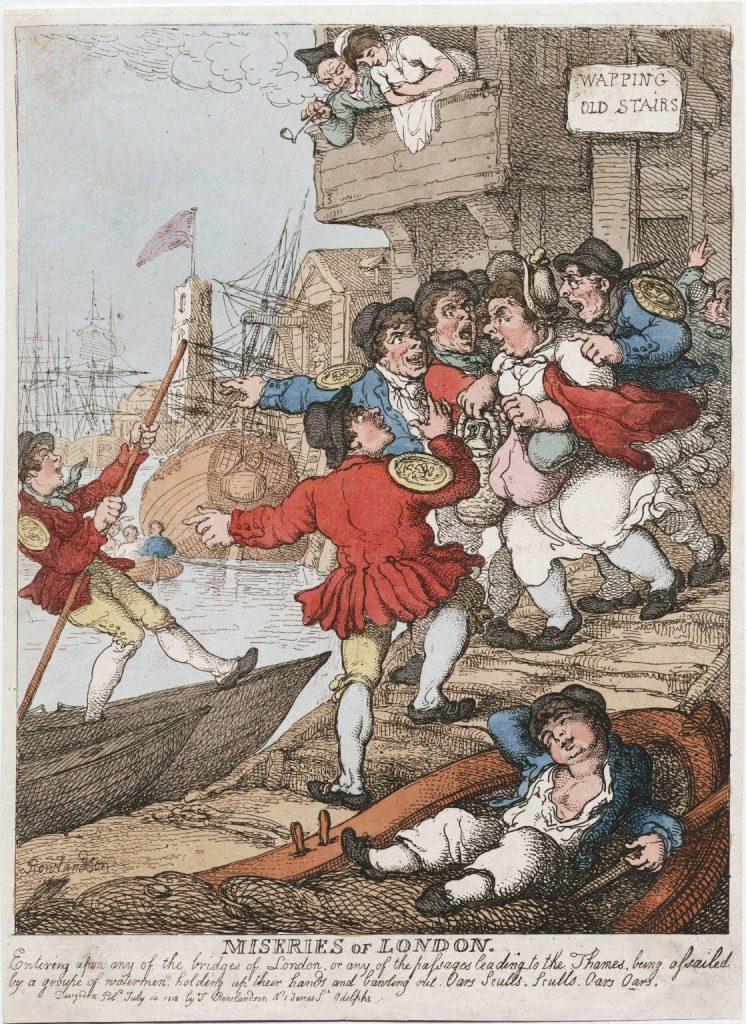 Querelle de marins en 1812 compagnie des bateliers et allegeurs