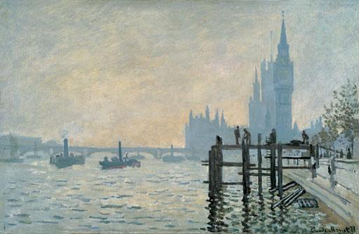 Claude Monet La Tamise en aval de Westminster 1871 National Gallery
