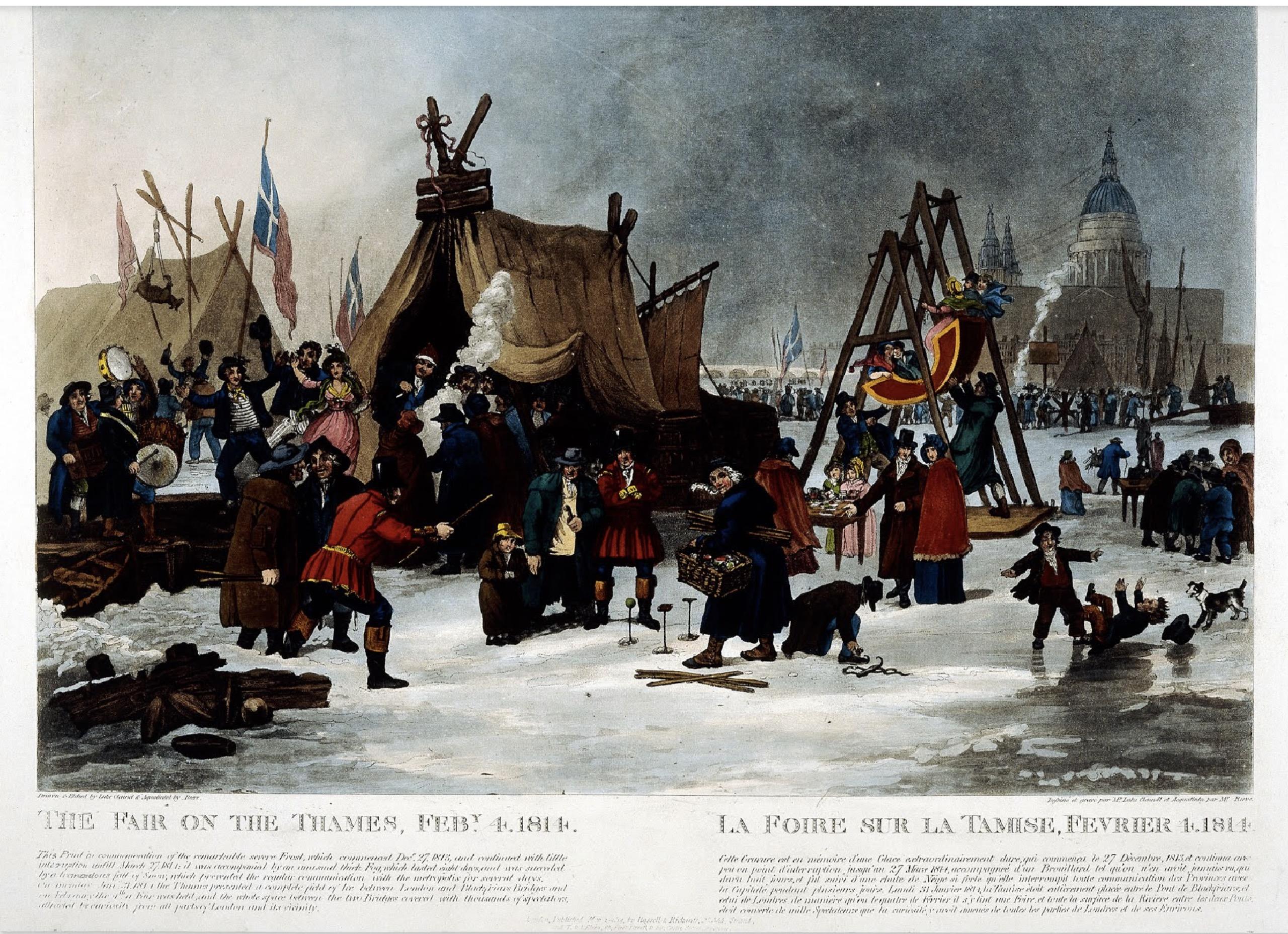 Foire sur la tamise 1814