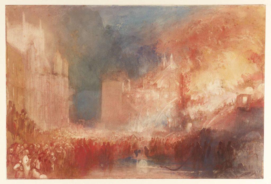 L incendie du parlement 1834 Londres - JMW Turner