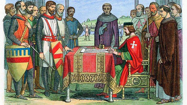 La signature de la Grande Charte - Magna Carta îles îlots