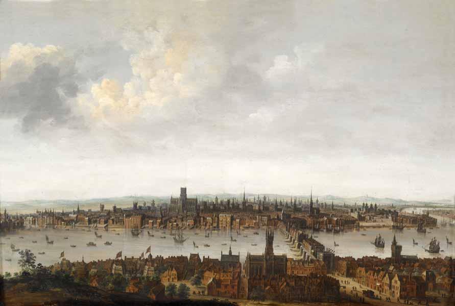 Londres au debut du 17e siecle avant le grand incendie