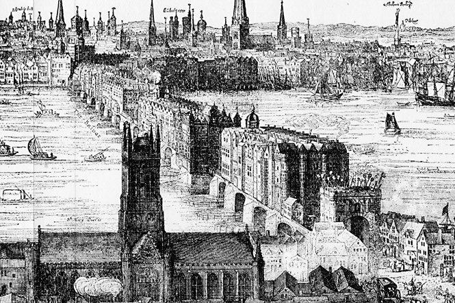 Old London Bridge en 1616 - Claes Visscher
