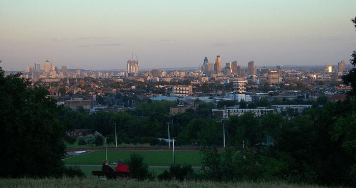 vue sur Londres depuis Parliament Hill
