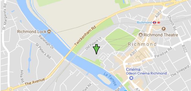 site du palais de Richmond Londres