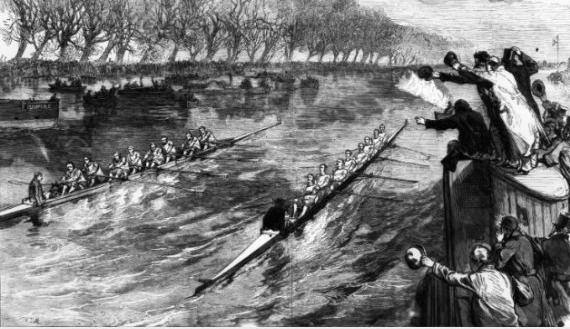 ex aequo en 1877 Boat Roace