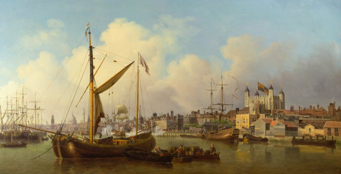 Tamise a hauteur de la Tour de Londres - Samuel Scott 1771