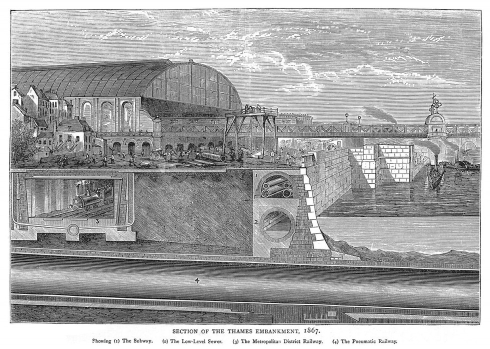 digue tamise 1867 Londres