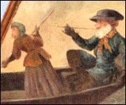 Singe fumant sur un bateau monkey island iles et ilots