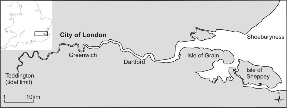 tidal thames map marees tamise