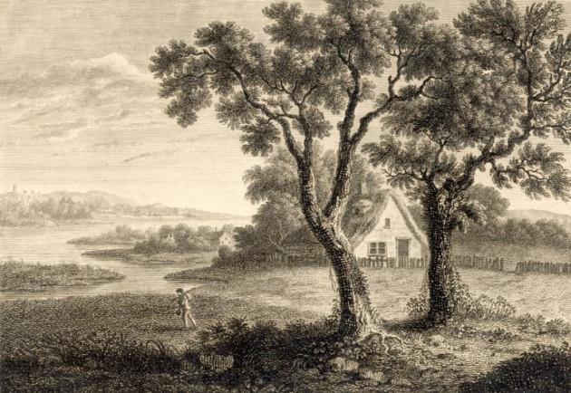 Newham, 1786 - marais a l est de Londres