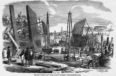 Construction de Victoria Dock