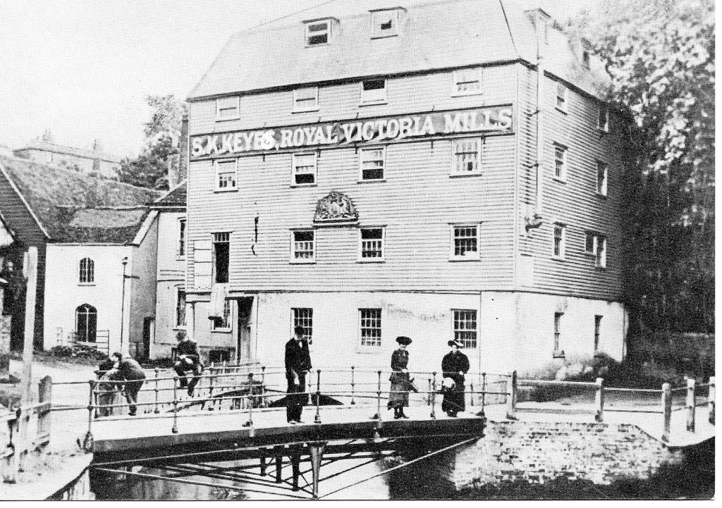 Victoria Mills Dartford c 1900 affluents