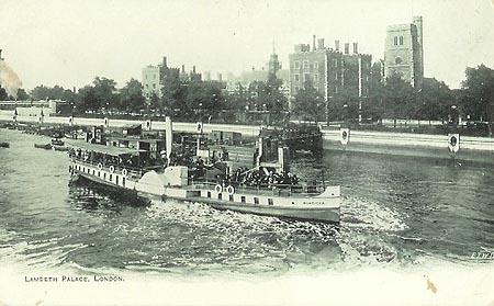 bateaux a vapeur Lambeth Palace