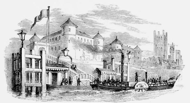 bateaux a vapeur prison de Millbank
