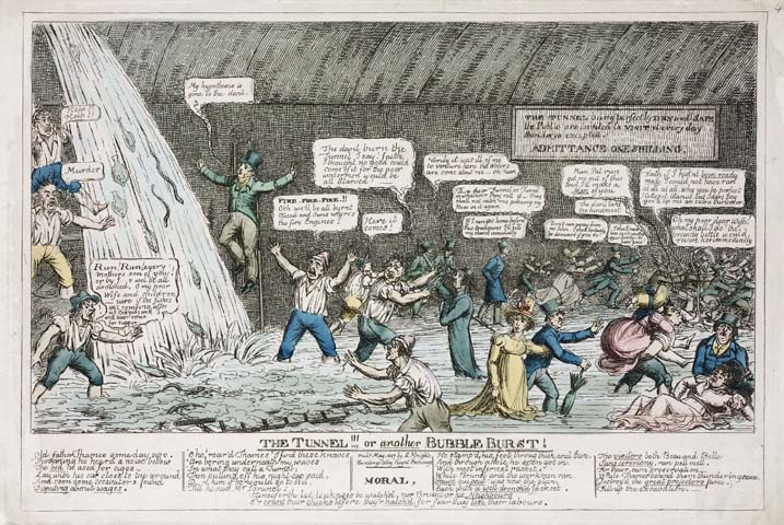 illustration satirique Thames Tunnel, 1827