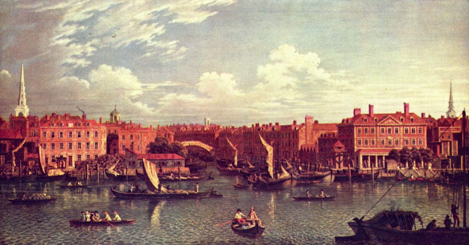 La rivière Fleet, par Samuel Scott (vers 1750). affluents Tamise