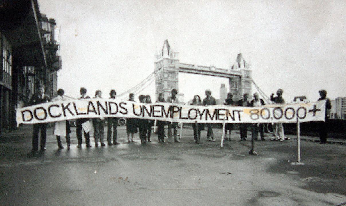 manifestation contre la fermeture des Royal Docks