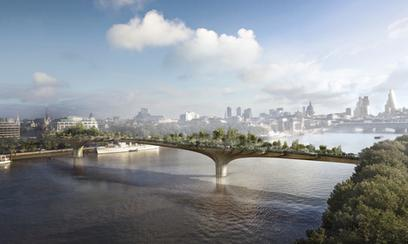Simulation du projet Garden Bridge.