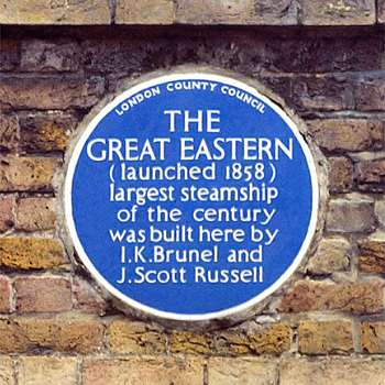the great eastern plaque commemorative