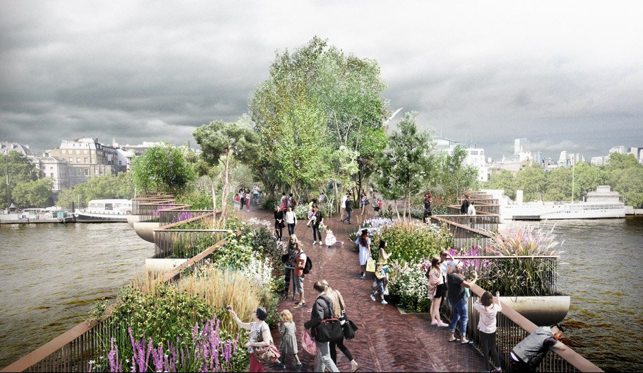 vue du projet garden bridge londres